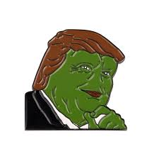 Donald Meme - donald trump internet meme smug frog pepe lapel pin in pins badges