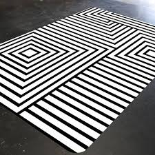 Black And White Modern Rug Black And White Rug Geometric Rug Mid Century Modern Rug