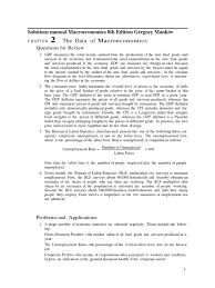 mankiw macroeconomics 8th edition answer key solutions manual
