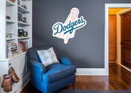 los angeles dodgers logo wall decal shop fathead for los los angeles dodgers logo fathead wall decal