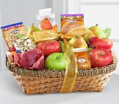 gift goody basket thank you get well fruit cheese crackers gourmet