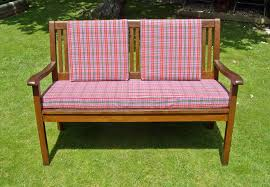 red outdoor bench cushion bench decoration