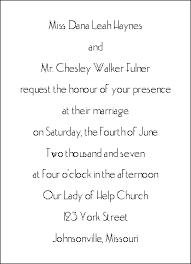 Wedding Reception Invitation Wording Sample Invitation Wording For Covered Dish Wedding Reception The