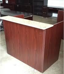 Laminate Reception Desk Mini Reception Desk With Granite Counter 42 W X 24 D X 43 H