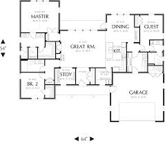 Craftsman Ranch House Plans 258 Best House Plans Images On Pinterest Bed U0026 Bath Square Feet