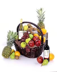 wine basket fruit and wine basket florist orlando fl in bloom florist