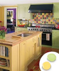 kitchen stunning kitchen cabinet color ideas paint colors for kitchen with bold green painted kitchen cabinets yellow painted kitchen island and colorful tile