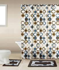 Elegant Bath Rugs Sami Brown U0026 Blue Circle 15 Piece Bathroom Accessory Set 2 Bath