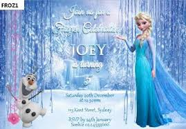 frozen anna elsa birthday party personalised invitations cards 21