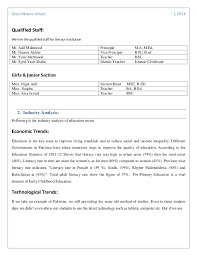 Example Of Education Resume by Business Plan Of
