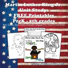 free martin luther king jr unit study with free printables and