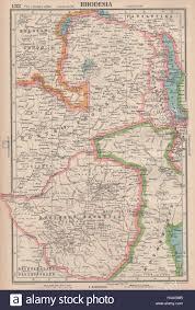 Zimbabwe Map Rhodesia Southern Northern Rhodesia Zimbabwe Zambia