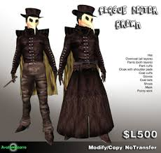 plague doctor costume second marketplace ab plague doctor brown