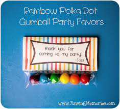 gumball party favors raising memories rainbow polka dot gumball party favors free