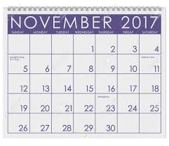 thanksgiving month 2017 calendar month of november with thanksgiving stock photo