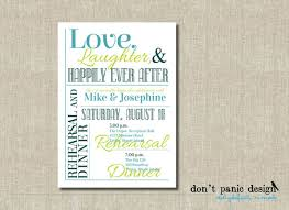printable rehearsal dinner invitation laughter happily
