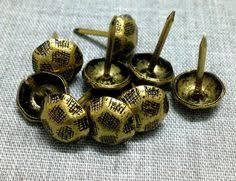 Upholstery Pins 12 Size 7mm 12mm Bronze Color Push Pins Upholstery Tacks Nails