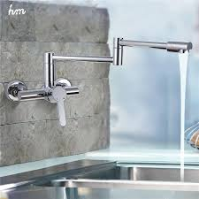 High Quality Kitchen Faucet New Style Brass Folding Kitchen Faucet Wall Mount 360 Swivel