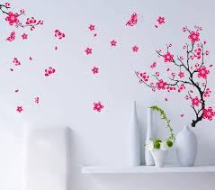 bedroom wall decor diy butterfly flower tree tv bedroom home decor wall sticker diy