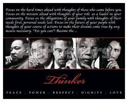 thinker quintet peace power respect dignity