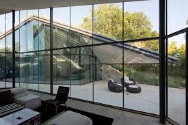 Glass Wall House Edgeland House By Bercy Chen Studio Hidden Underground Home