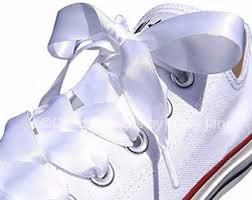 ribbon shoe laces satin shoelaces etsy