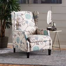 Fabric Recliner Armchair Westeros Traditional Wingback Fabric Recliner Chair Ebay