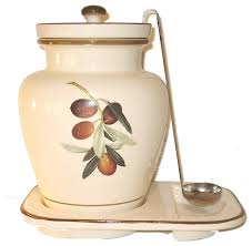 themed kitchen canisters 1 gallon ceramic olive themed container mediterranean