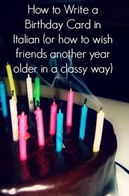 how to write a birthday card in italian
