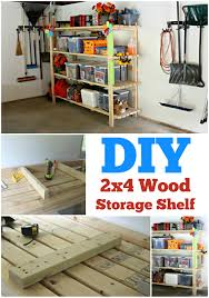 Build A Wood Shelving Unit by Diy 2 4 Garage Shelving