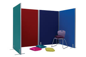 office partition screen room divider 1200 x 1800mm blue