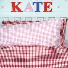 gingham duvet cover and pillowcase by tessuti notonthehighstreet com