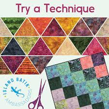 Challenge Technique My Island Batik March Challenge New Technique The Inquiring Quilter