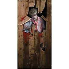 Halloween Decorating Doors Ideas Zombie Door Cover Halloween Decoration Walmart Com