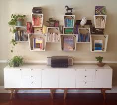 unusual shelving hanging shelf unit wall