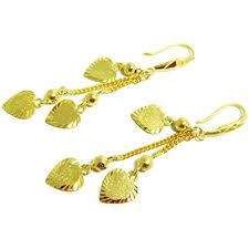 thailand earrings earrings drop dangle 18k 22k 24k thai baht yellow gold