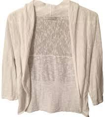 merona sweater merona white lightweight shawl cardigan size 2 xs tradesy