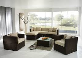 Sofa And Table Set by Living Room Modern Living Room Remodel With Black Wicker Sofa
