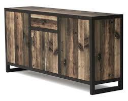 buffet de cuisine en bois buffet bois industriel meuble cuisine bois massif caisson cuisine