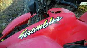 polaris scrambler 500 gas leak issue youtube