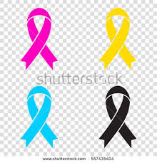 black and yellow ribbon black awareness ribbon sign cmyk icons stock vector 557435404