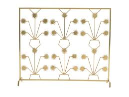 maitland smith dining room soft finished brass fireplace screen
