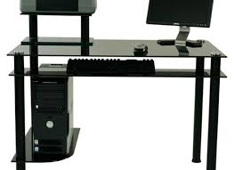 Corner Desk Keyboard Tray Shelf Open Shelves And Keyboard Tray Small Black Corner Desk