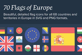 Flags Of European Countries The Flags Of Europe Icon Set Icons Creative Market