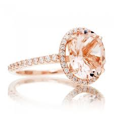morganite engagement ring gold morganite ring 10x8 oval cut 14k gold halo diamond engagement