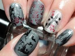 silver nail art goth style wallpaper nail designs gothic biz style