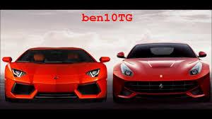 Ferrari F12 Front - 2013 new ferrari f12 berlinetta 750bhp vs 2011 lamborghini