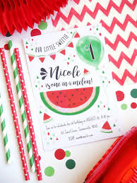 watermelon party printables invitations birdsparty com