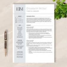 Apple Resume Example by Modern Resume Template Word And Apple Pages No 004