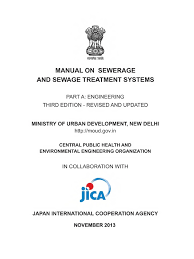 sewerage design manual 2013 india sanitation sanitary sewer